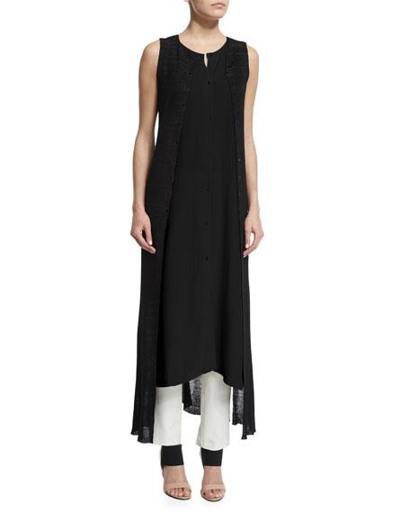 Eileen Fisher Fisher Project Sheer Skinny Vest, Sleeveless