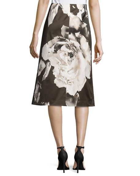 Zarita Floral-Print Skirt, Cloud/Multi
