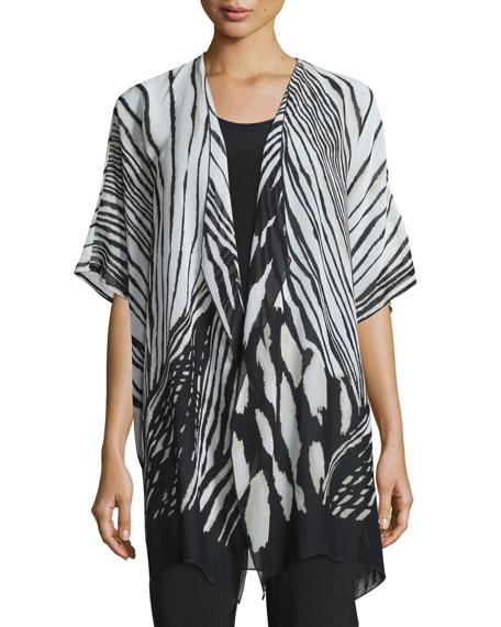 Summer Safari Short-Sleeve Cardigan, Plus Size