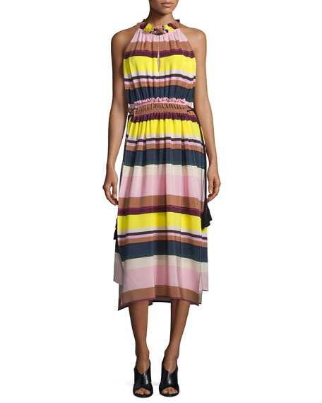 Apiece Apart La Rosa Striped Midi Dress, Bright