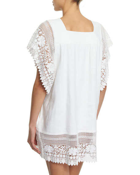 Destiny Crocheted-Lace Coverup Dress