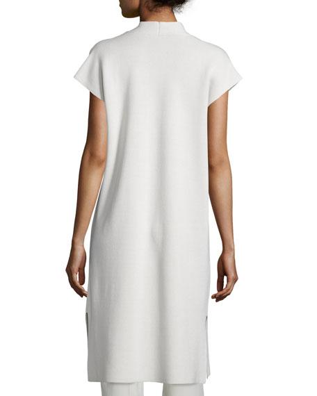 Draped Long Cotton/Silk Interlock Vest
