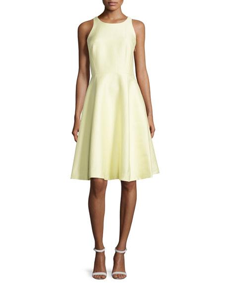 kate spade new york sleeveless open bow-back dress,