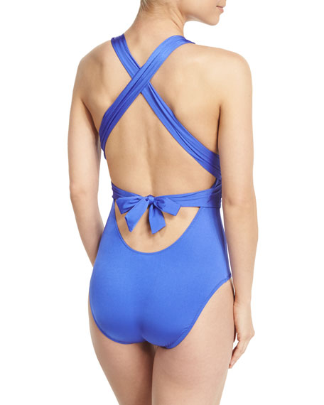 Garden Party Cross-Back One-Piece Swimsuit