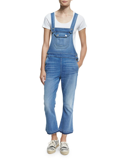 7 For All Mankind Cropped Denim Overalls, Delphi