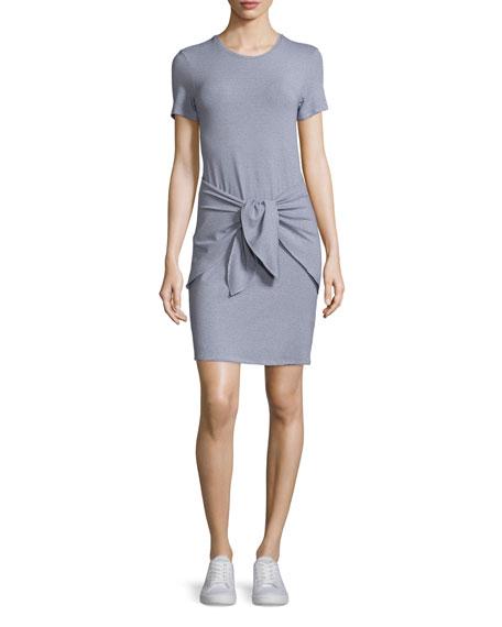 Dakui Narrow Tie-Front T-Shirt Dress