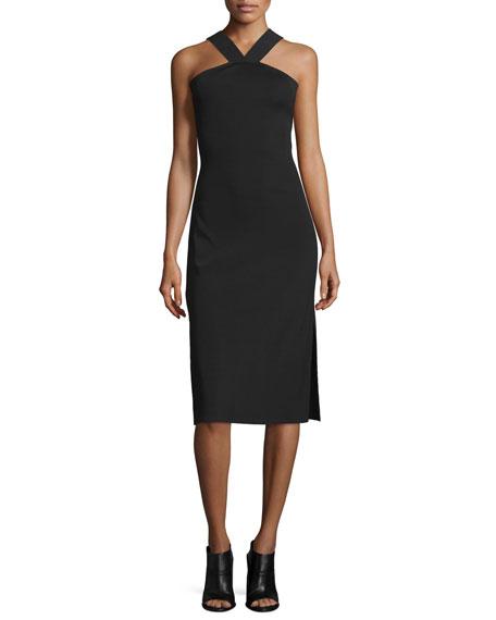 Rag & Bone Woman Rachel Cutout Ribbed Stretch-knit Dress Black Size 2 Rag & Bone 73mnsEwY