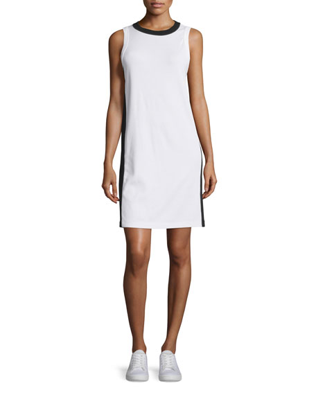 Rag & Bone Sam Stripe-Trim Jersey Shift Dress,