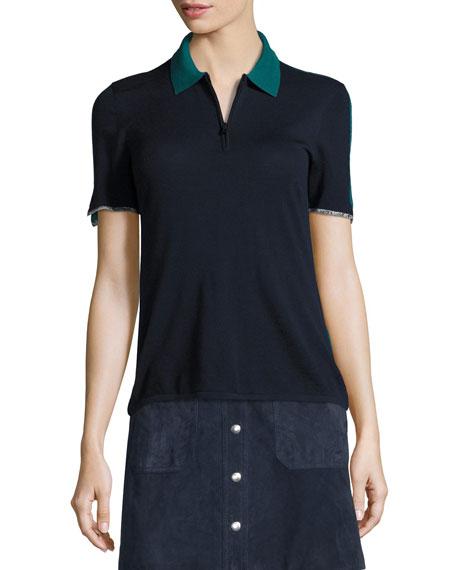 Rag & Bone Alice Colorblock Half-Zip Polo Shirt