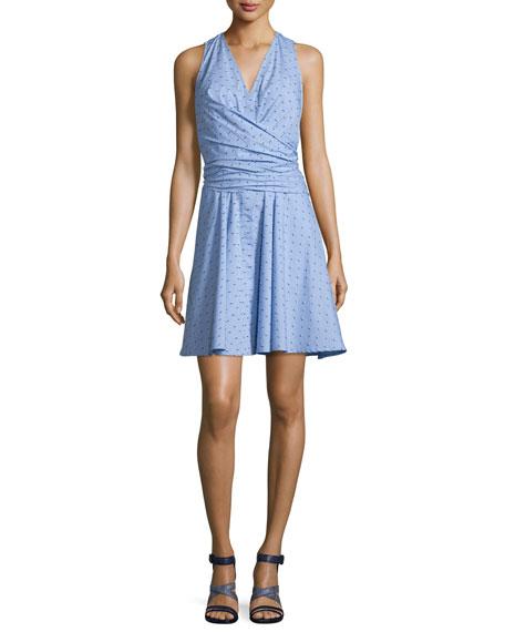 10 Crosby Derek Lam Sleeveless Tie-Back Poplin Dress,