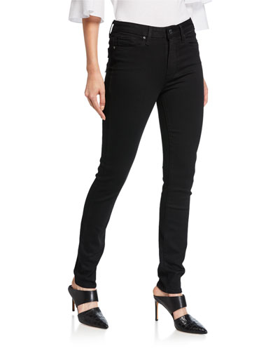 Hoxton Ultra-Skinny Ankle Jeans  Black Shadow