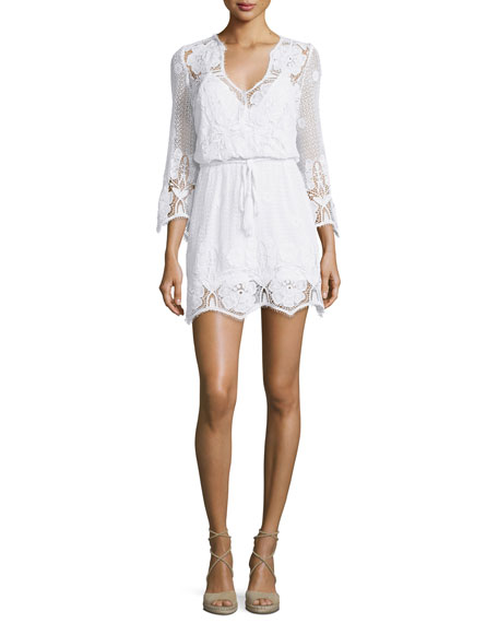 Miguelina Gertrude Netted/Lace Dress Coverup