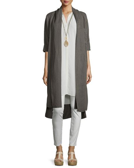 Cap-Sleeve Silk Georgette Layering Dress, Petite