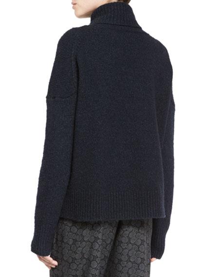 Oversized Knit Turtleneck Sweater