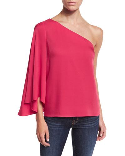Tori One-Shoulder Top, Rose