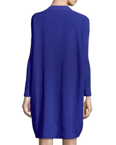 Long-Sleeve Silk Dress