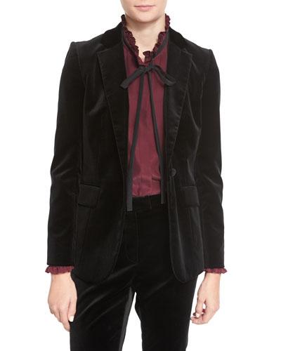 Velvet Mod Blazer, Noir