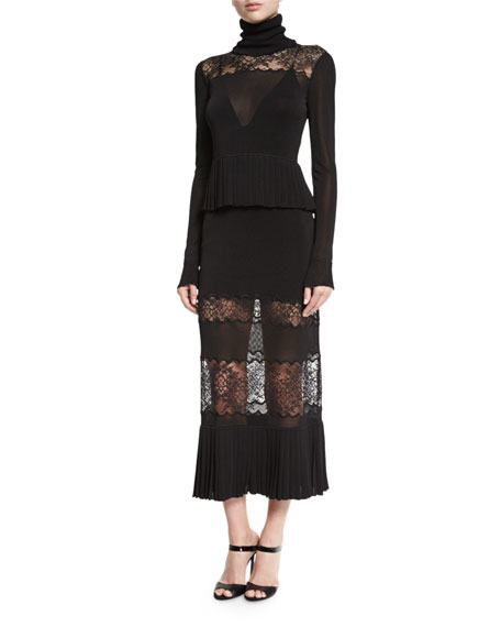 Rikki Paneled Lace Maxi Skirt