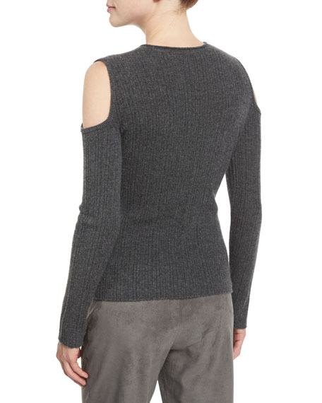 Marlah Ribbed Cold-Shoulder Sweater Onsale