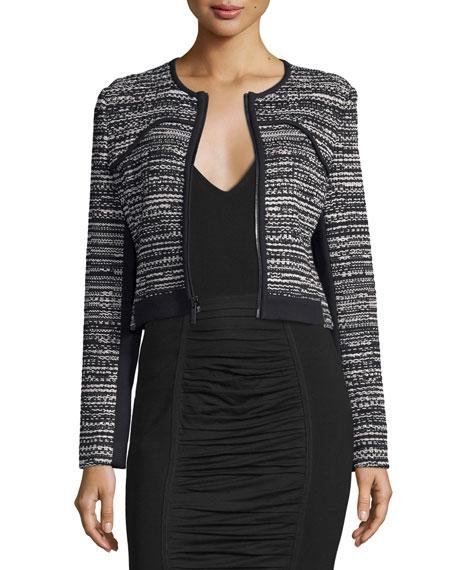 Diane von Furstenberg Caity Collarless Zip-Up Jacket