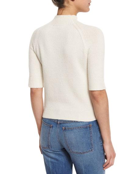 Jodi B Cashmere Mock-Neck Sweater