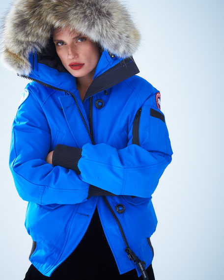 PBI Chilliwack Hooded Fur-Trim Parka, Royal Blue