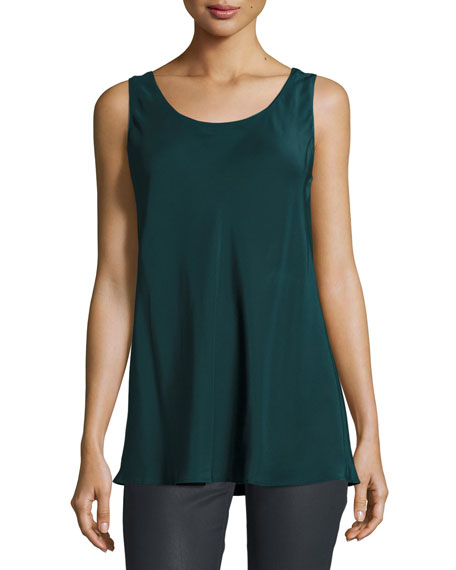 Lafayette 148 New York Portman Sleeveless Silk Blouse,