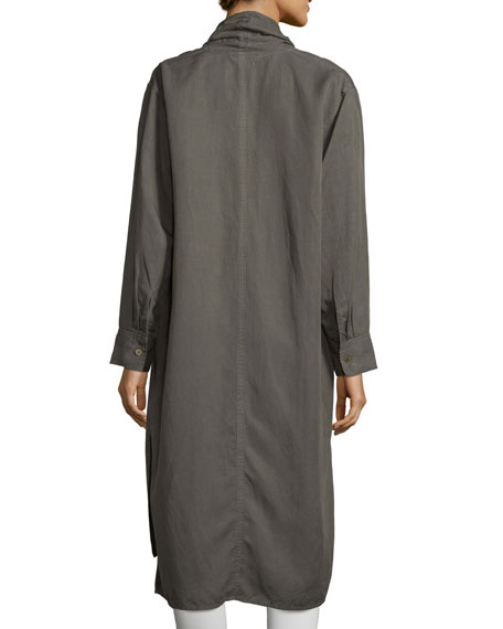 Shawl-Collar Open-Front Oversized Jacket