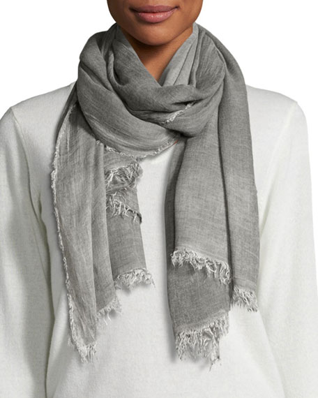 Eileen Fisher Cozy Maltinto Textured Scarf, Ash
