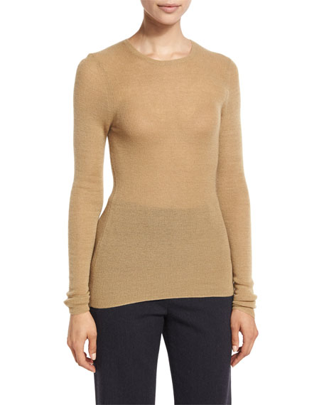 Vince Cashmere Ribbed Crewneck Top