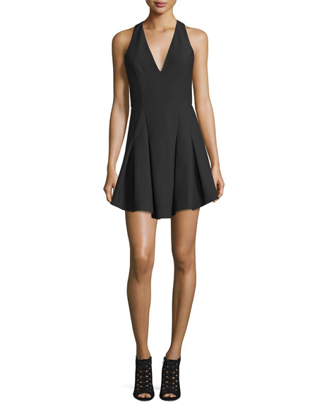 Elizabeth & James Sabine Sleeveless Crepe Fit-and-Flare Dress