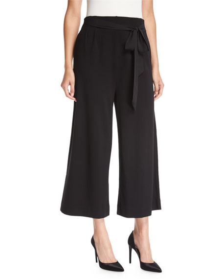 Joan Vass Lightweight Ponte Culotte Pants & Tweed