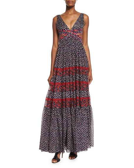 Diane von Furstenberg Altessa Sleeveless Prairie Maxi Dress,