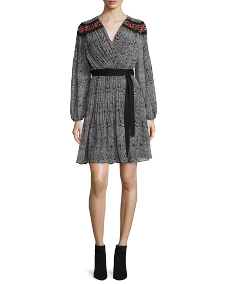 Diane von Furstenberg Bianka Long-Sleeve Wrap Dress, Cabriole