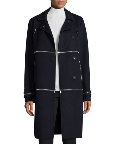 1, 2, 3 Asymmetric Convertible Coat, Royal Navy