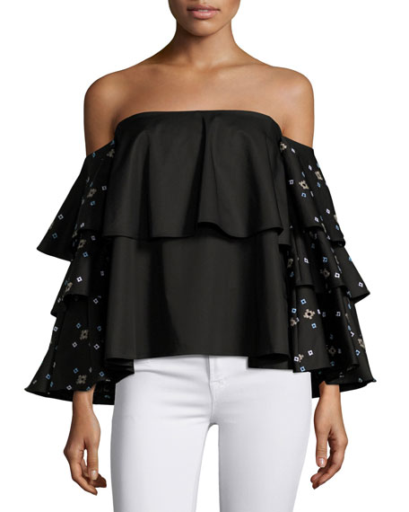 Carmen Ruffle Off-the-Shoulder Top