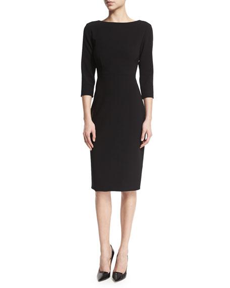 Varetta Admiral Crepe Sheath Dress, Black