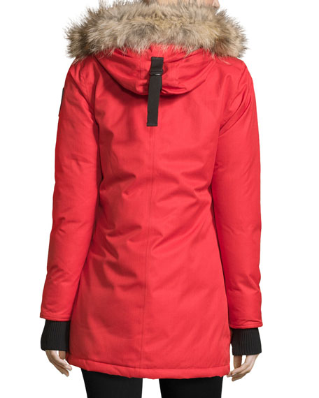 Carla Hooded Zip-Front Coat