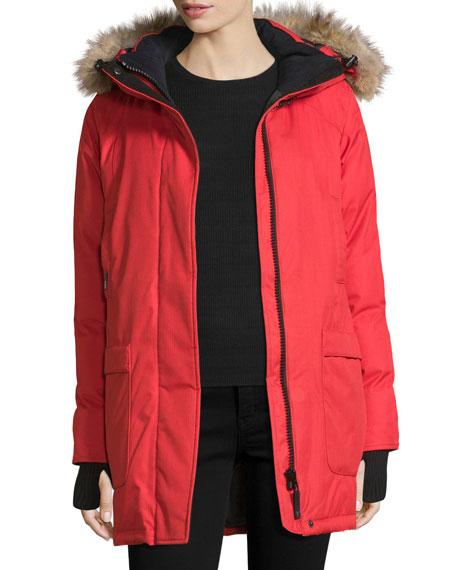Carla Hooded Zip-Front Coat