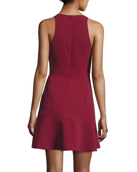 Felicitna Crepe Fit & Flare Dress