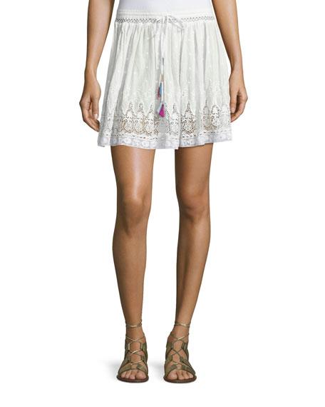 Phoebe Prairie Lace Miniskirt, White