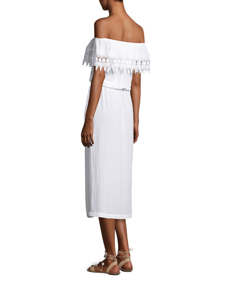 Costa Brava Off-the-Shoulder Midi Dress