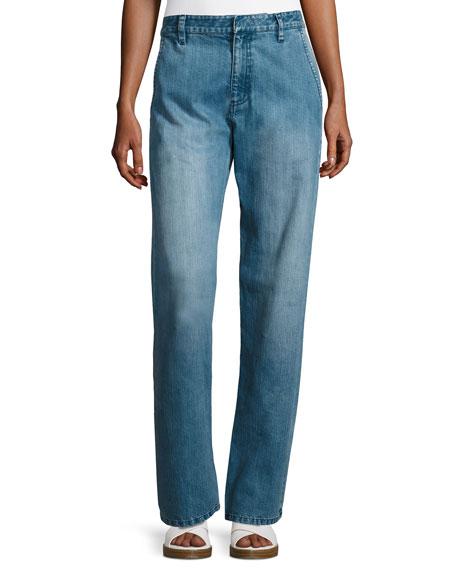 Tibi Slouchy Straight-Leg Jeans