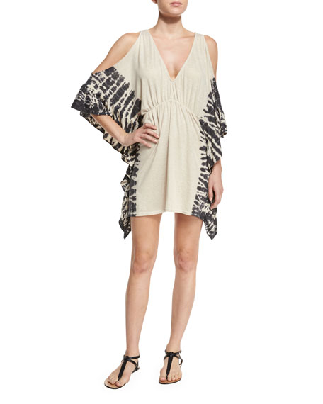 Ale by Alessandra Free Spirit Cold-Shoulder Coverup, Natural