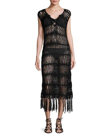 Raven Macrame Coverup Dress