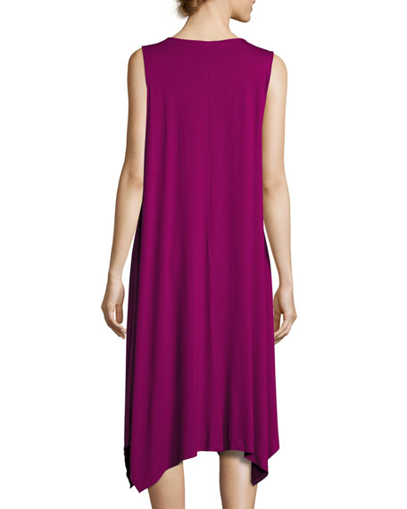 Sleeveless Jersey Handkerchief Dress