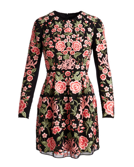 Needle & Thread Embroidered Rose Dress
