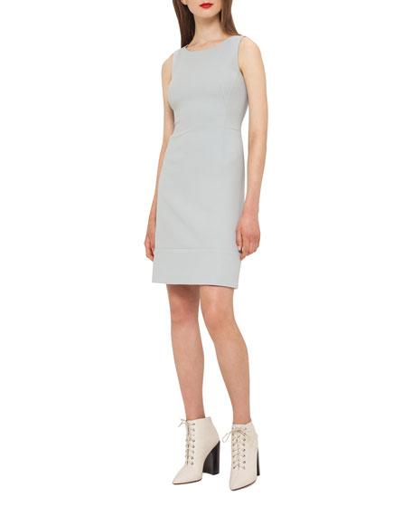Akris Wool Crepe Double-Hem Dress