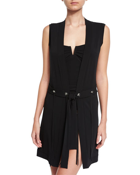 Go West Coverup Vest, Black