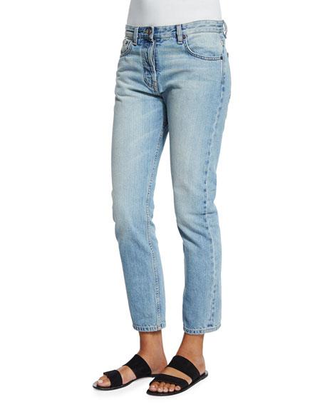 THE ROW Ashland Slim-Leg Ankle Jeans, Indigo and